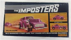Vtg Aurora Imposters Willy's Coupe in Box