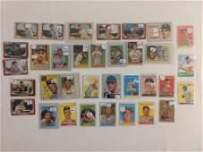 33pc 1950's Topps & Bowman Baseball Cards