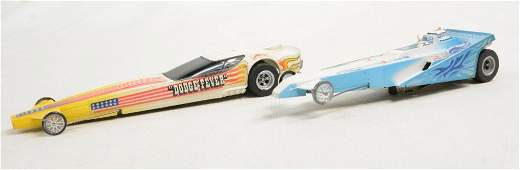 2pc Vtg Aurora AFX Dragster Slot Cars