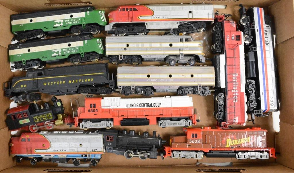 13pc Mixed HO Train Engine & Parts Lot