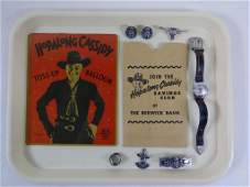 Vtg Hopalong Cassidy Collectibles Lot w/ Watch