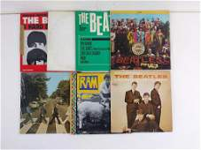 7pc Vtg Beatles & Related Record Lot Introducing the