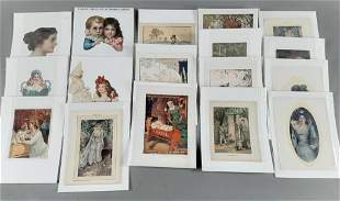 17pc Victorian Die-Cuts, Prints & Trade Cards