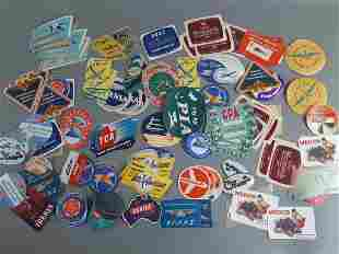 150pc Vtg Airline Luggage Label Lot NOS