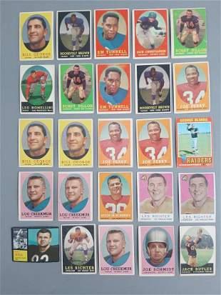 25pc 1950-60's Topps Football HOF Cards