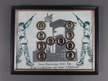 Vtg IRA Irish Republic Army Hunger Strike Pin Set