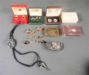 Vtg Men's Jewelry Accessory Lot