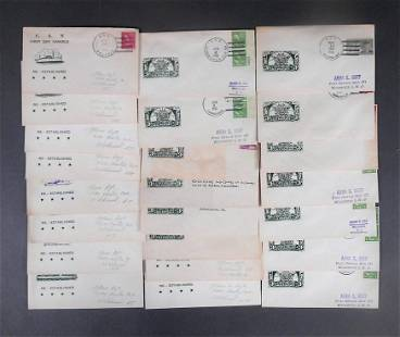 23pc US Naval Covers Lot