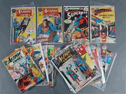 19pc Bronze Age DC Action & Superman Comics