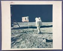 Apollo 11 Buzz Aldrin on the moon Red numbered