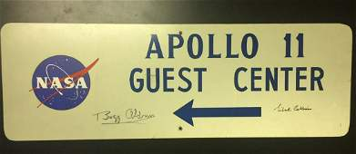 Original Apollo 11 Guest Center sign signed