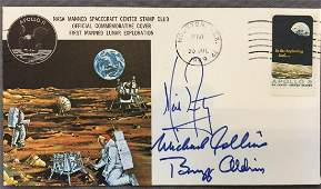 Apollo 11 Type 1 Insurance Cover with NASA MSC Stamp