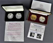 NASA Tribute Silver and Bronze Coin Proof Sets