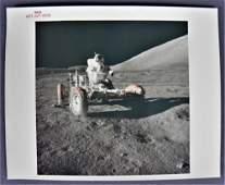 Apollo 17 Original Red Numbered Photograph