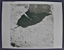 Apollo 16 Red Numbered Specimen Collection Photograph
