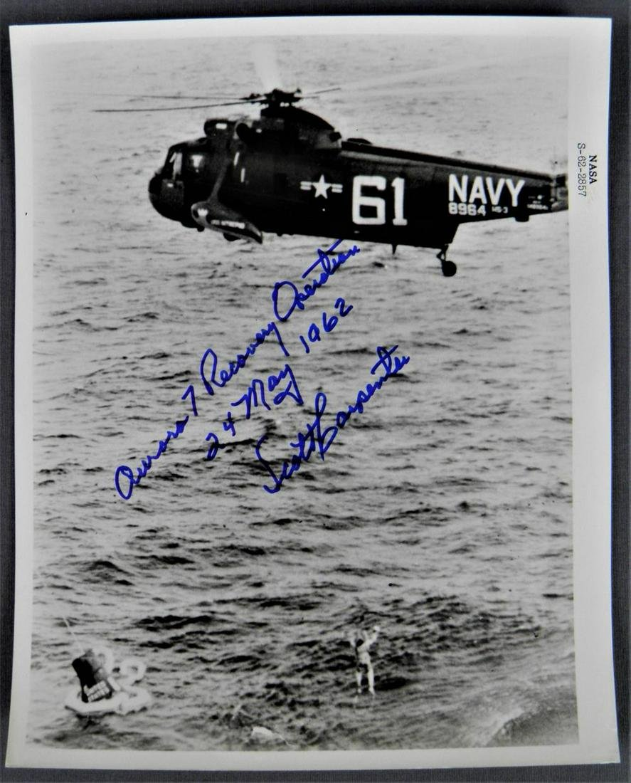 NASA Astronaut Scott Carpenter being recovered by Navy helicopter New 8x10 Photo