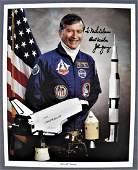 John Young Signed Vintage NASA Lithograph