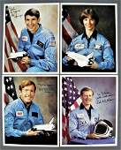 4  Shuttle Astronaut Signed Lithographs