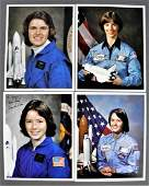 4 - Early Female Shuttle Astronauts Signed Lithographs