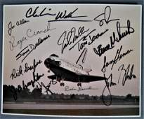 Space Shuttle Landing Lithograph Signed by Numerous
