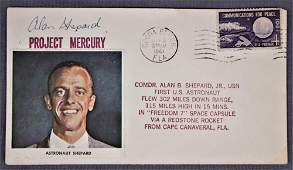 Alan Shepard Freedom 7 Signed Cover