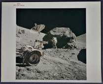 Apollo 17 Red Numbered Lunar Surface Photograph with