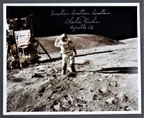 Charlie Duke Signed Lunar Surface Photograph