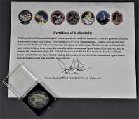 Jerry Ross's Expedition 49 Robbins Medallion