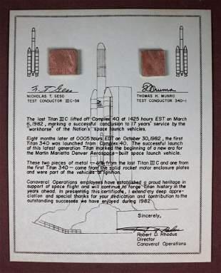 Last Titan III C & First Titan 34D Flown Fragments