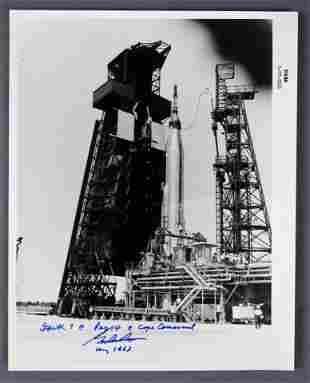Gordon Cooper Signed Vintage Mercury Photograph