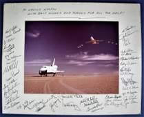 Space Shuttle Enterprise Display Signed by 44