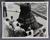 Gordon Cooper Signed Original Mercury Photograph