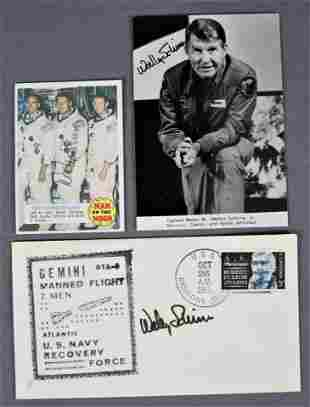 Wally Schirra Hand Signed Items