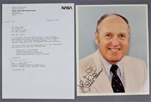 John G. McTigue Signed Typed Letter & Photograph