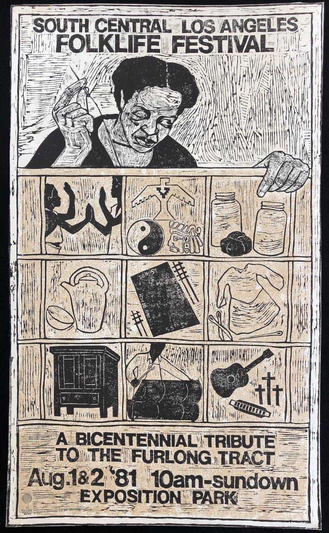 Kerry James Marshall, Large 1981 Linocut