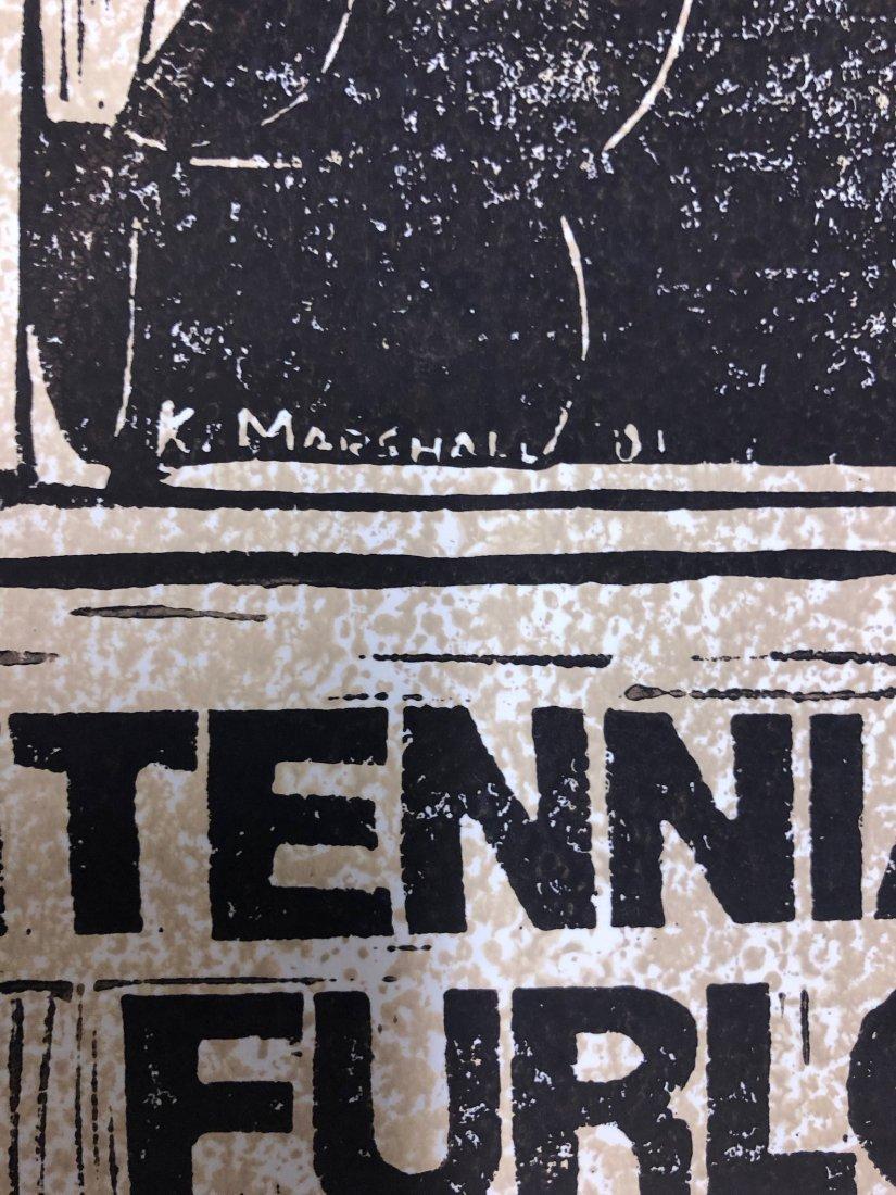 Kerry James Marshall, Large 1981 Linocut - 3