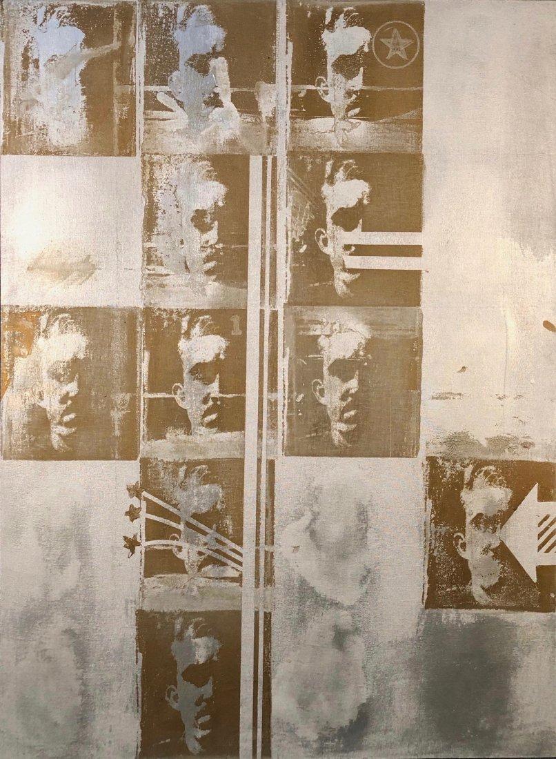 Stephen Zaima, 1960s Serial Pop Art Painting