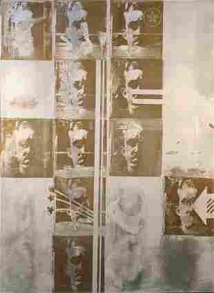 Stephen Zaima 1960s Serial Pop Art Painting