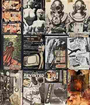 David J of Bauhaus, 1970s Post Punk, Neo Dada collage