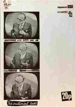 David J of Bauhaus, 1970s Post Punk Neo Dada Collage