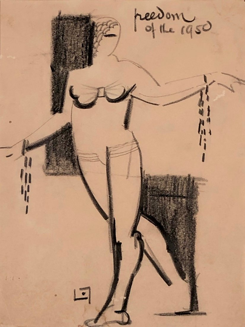 Lucien Labaudt, Post Surrealist Drawing