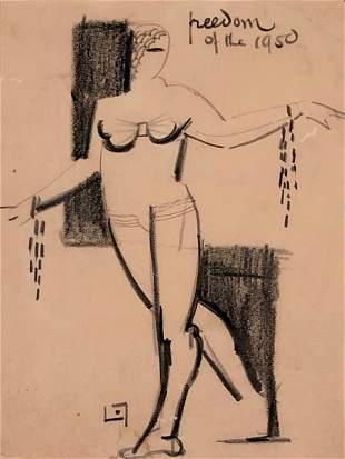 Lucien Labaudt, Post Surrealist Drawing