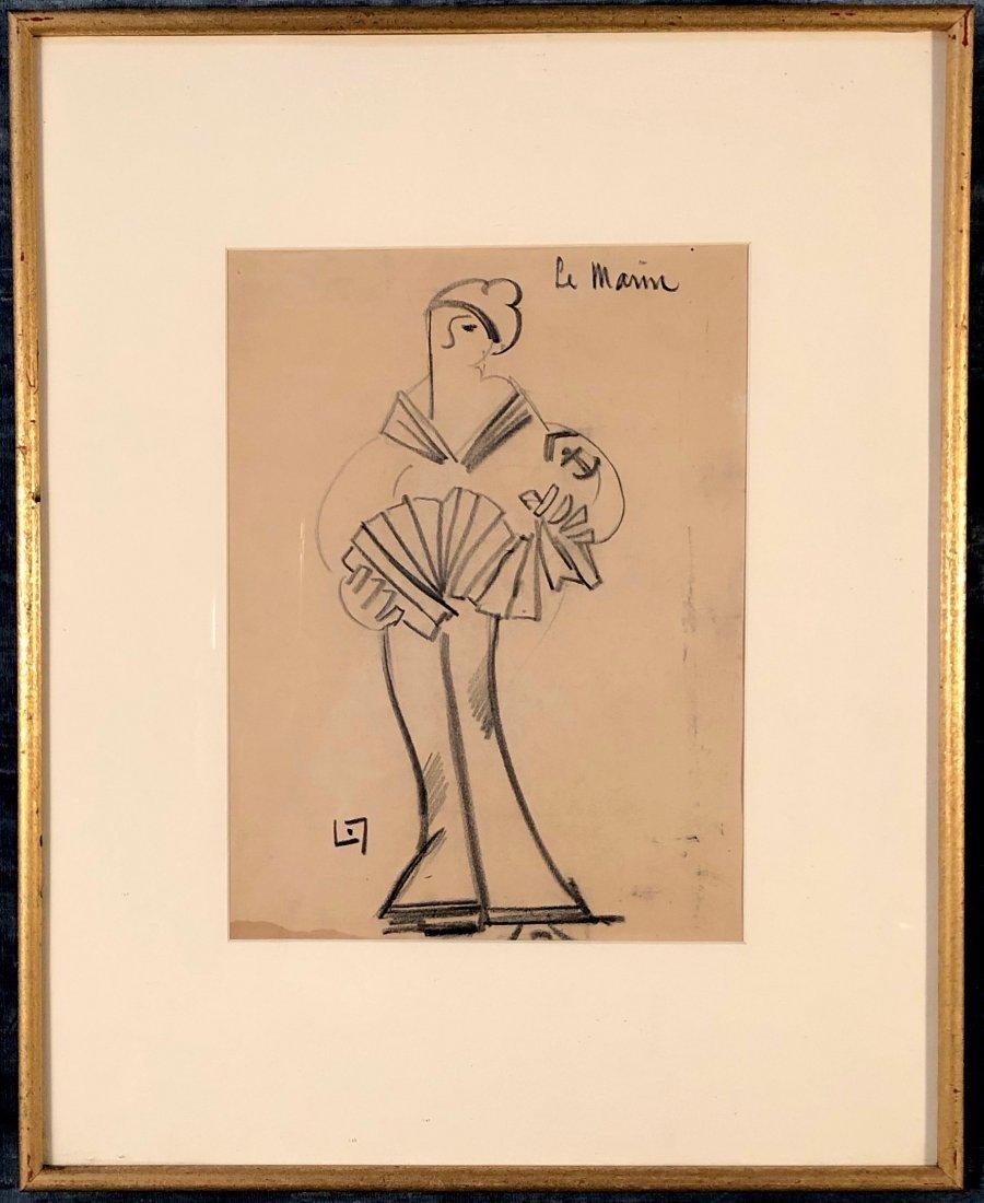 Lucien Labaudt, Post Surrealist Drawing - 2