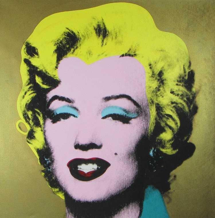 Daniel Douke, Warhol Marilyn Screenprint on Canvas