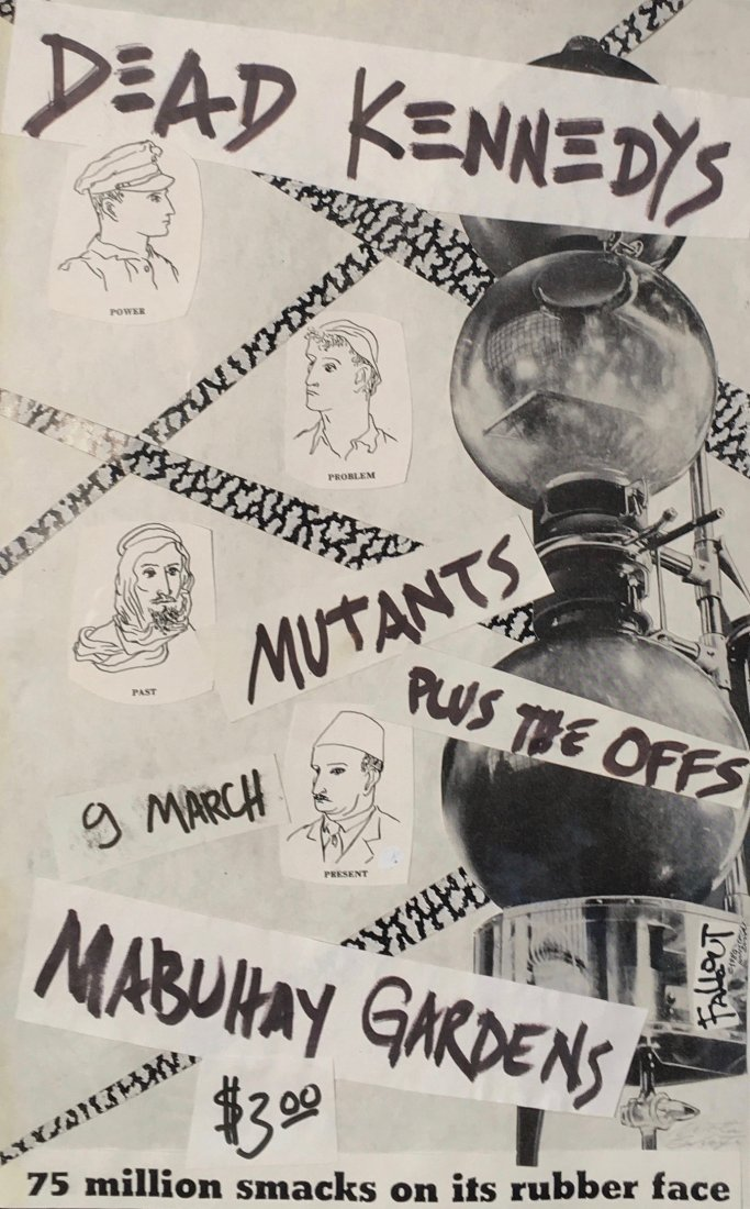 Winston Smith, Original Collage for Dead Kennedys Flyer