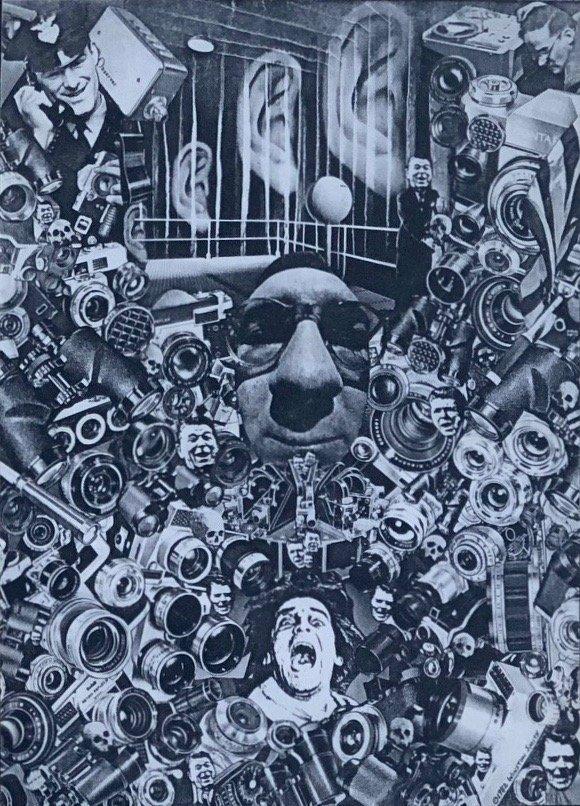 Winston Smith, 1984 Xerox Collage