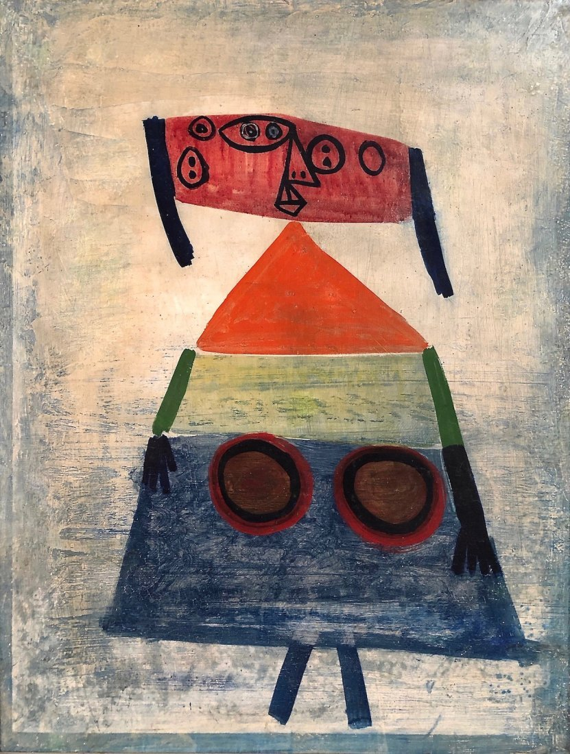 Margaret Peterson, 1940s Abstract Figure