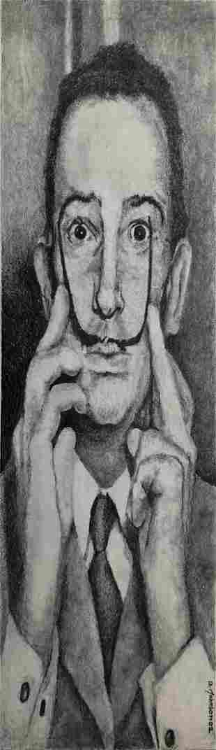 Aaron Johnson Portrait of Salvador Dali