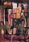 Dorr Bothwell Circa 1950 Abstract Surrealist Gouache
