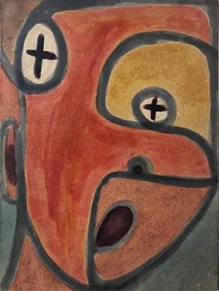 Ruth Wall, 1940s, San Francisco, Cubist Head